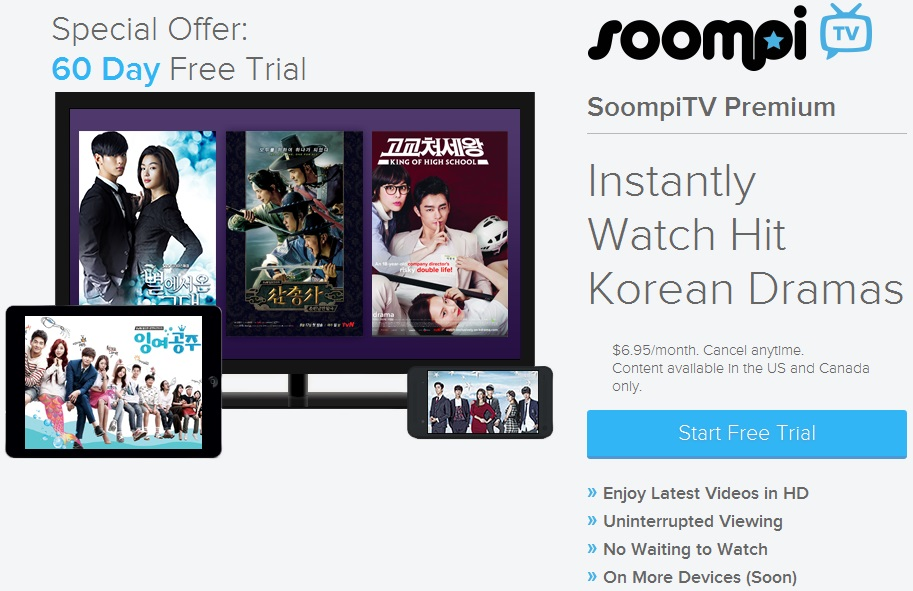 Soompi TV subscription offer