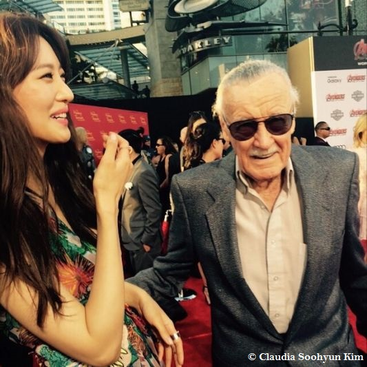 Claudia Kim with Stan Lee